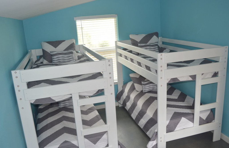 Bunk beds at Lazy Shores.
