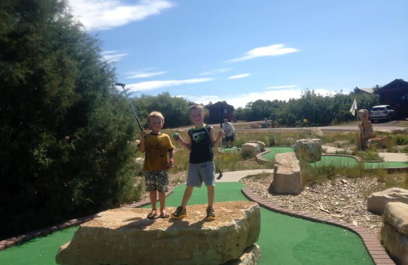 Mini golf at Zion Ponderosa Ranch.
