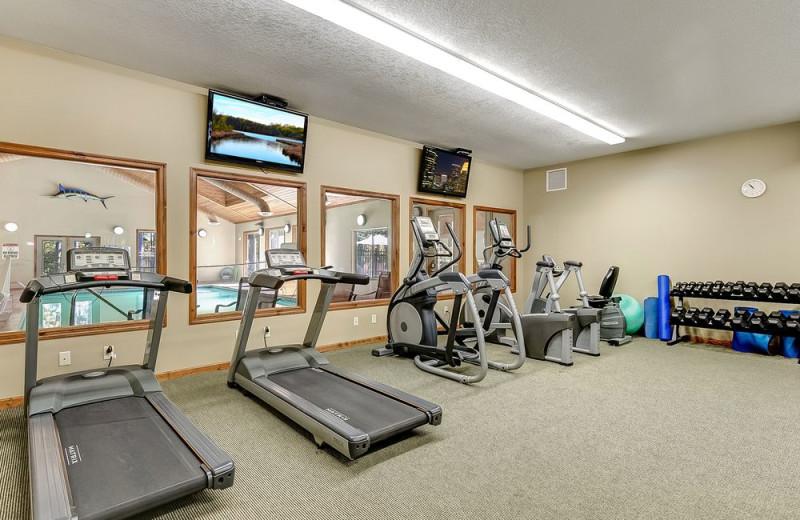 Fitness room at Wilderness Resort Villas.