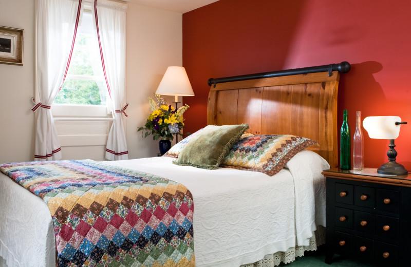Guest bedroom at Eagles Mere Inn.