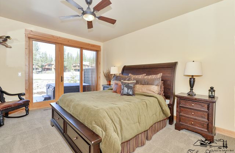 Vacation Rental Bedroom at Tahoe Signature Properties