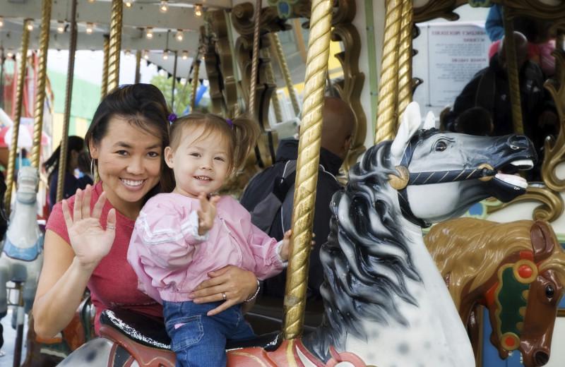 Merry-go-round at Indiana Beach Amusement Resort.