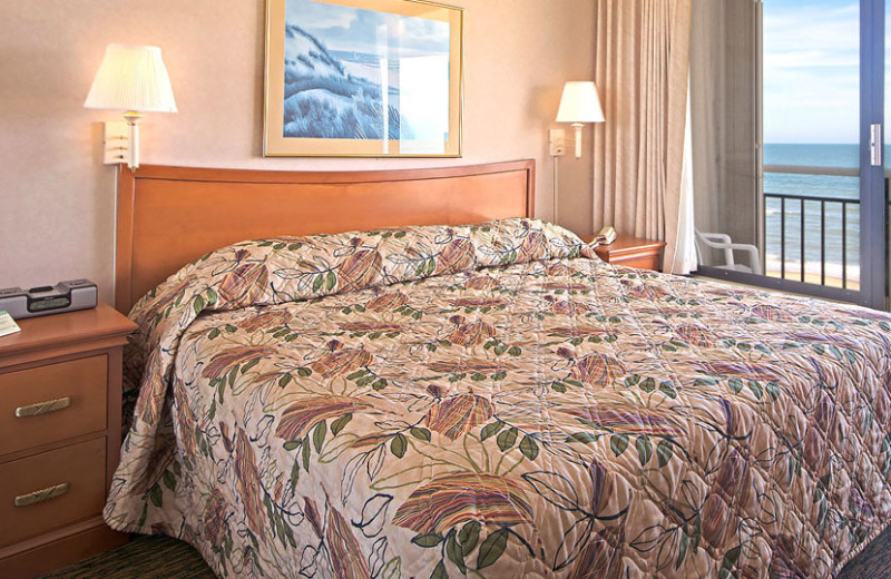 Guest bedroom at Four Sails Resort.
