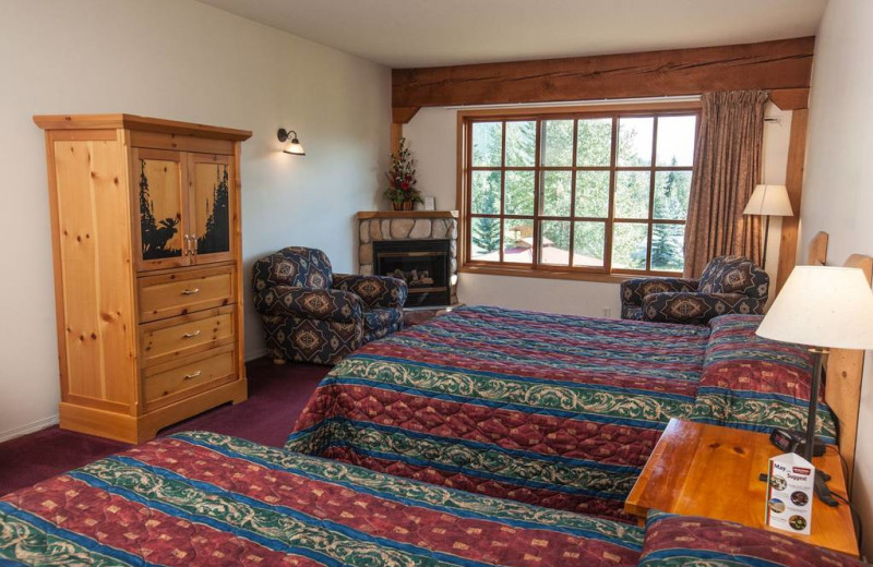 Guest room at Glacier House Resort.