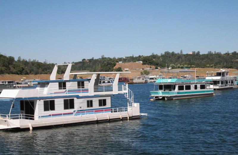 Houseboats at Lake Oroville.