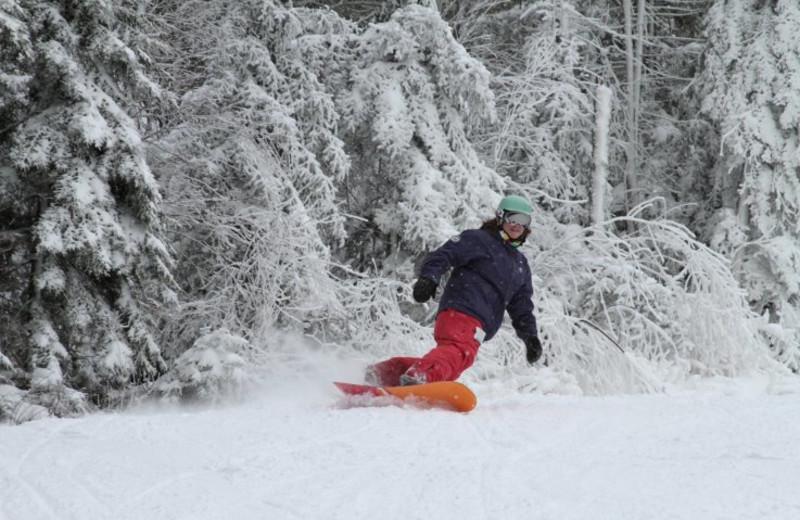 Snowboarding near Discounted Condominium Rentals.