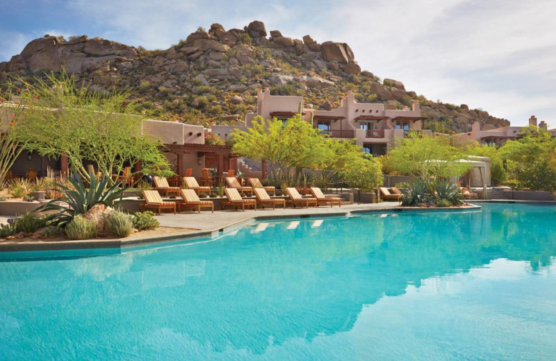 Outdoor pool at Four Seasons Residence Club Scottsdale at Troon North.