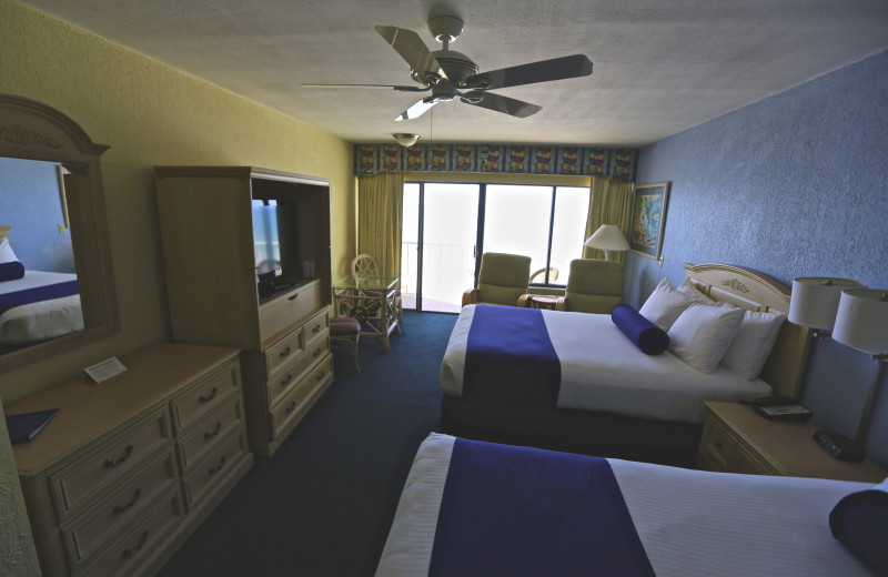 Guest room at Shoreline Island Resort.