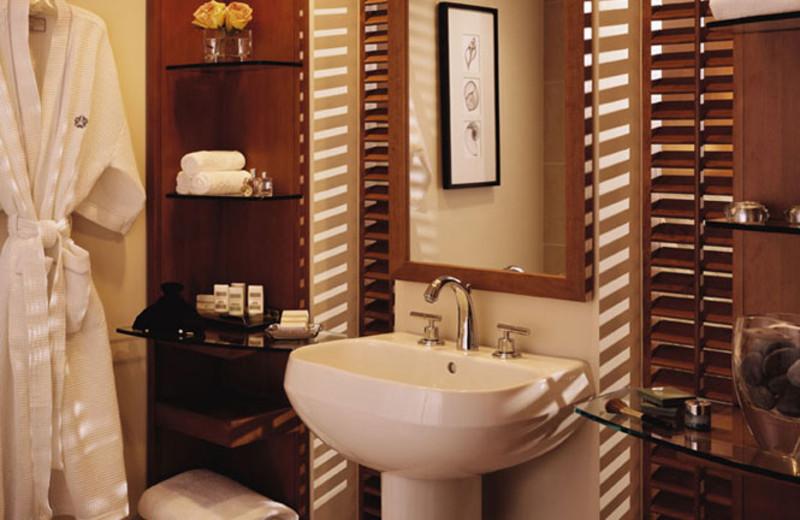 Guest bathroom at Omni San Diego Hotel.