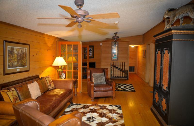Guest living room at Buckhead Ranch.