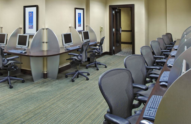Business center at Sheraton Miami Airport Hotel.