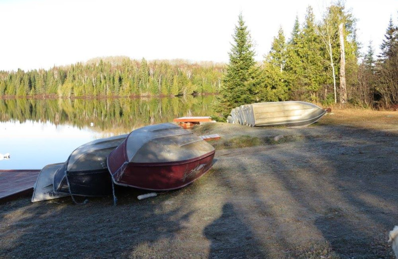 Boats at Bay Wolf Camp.