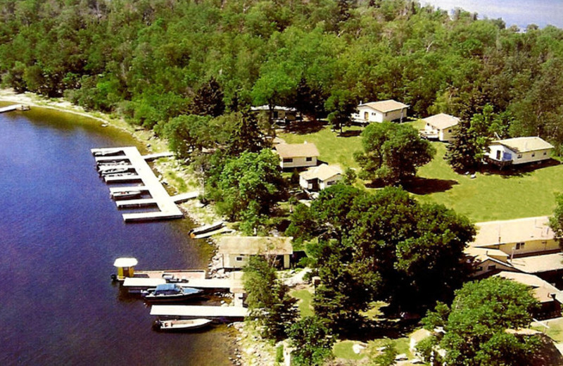 Aerial view of Pipestone Point Resort.