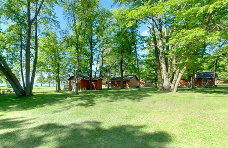 Cabins at Hiawatha Beach Resort.