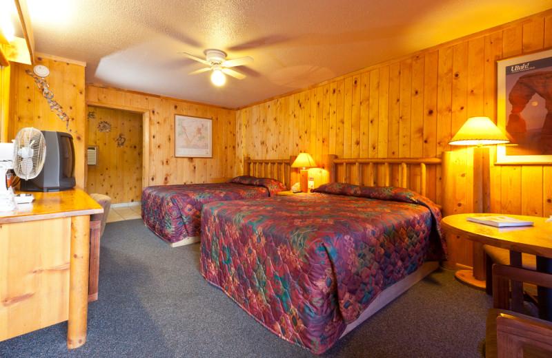 Guest room at Big Horn Lodge.