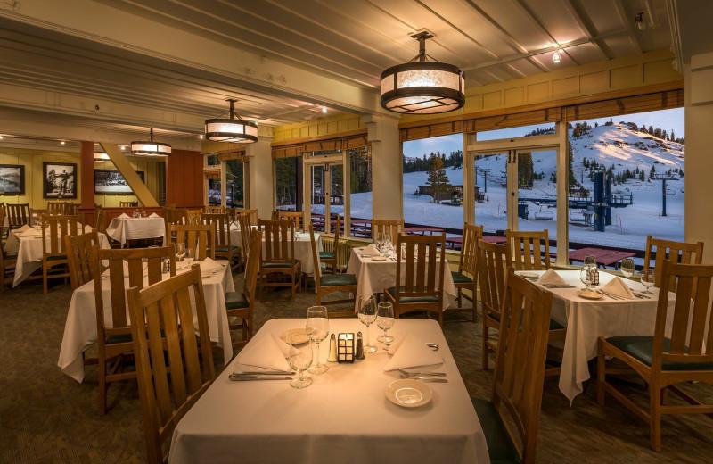Dining at Sugar Bowl Resort.