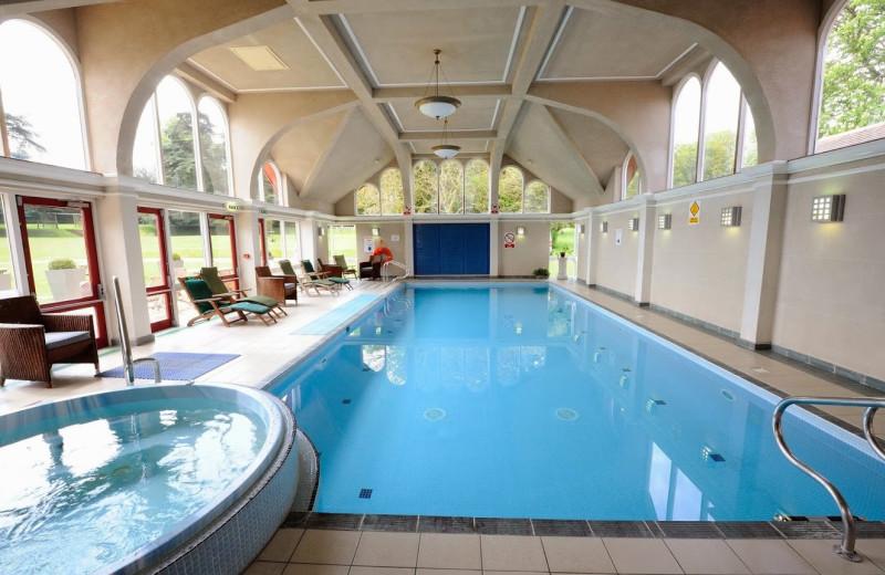 Indoor pool at Pendley Manor Hotel.
