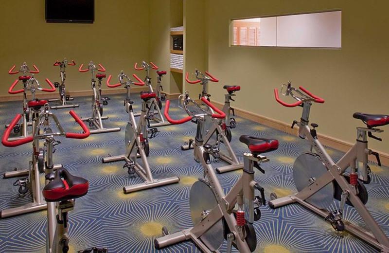 Fitness room at La Torretta Lake Resort & Spa.