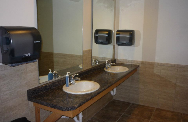 Bathroom at Bliss Point Resort.