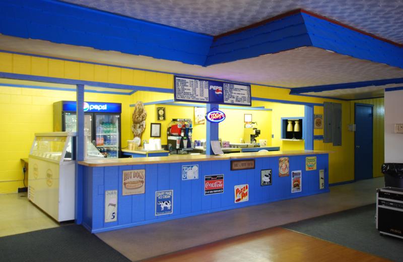 Concession stand at Lake Ridge Resort.