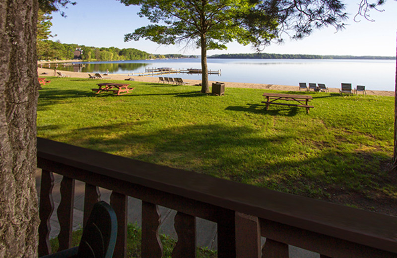 Balcony view at Cragun's Resort and Hotel on Gull Lake.