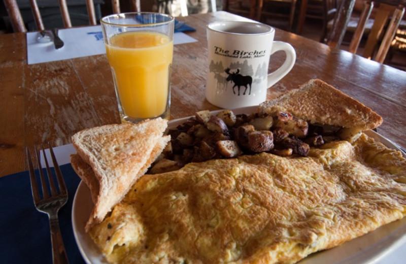 Breakfast at The Birches Resort.