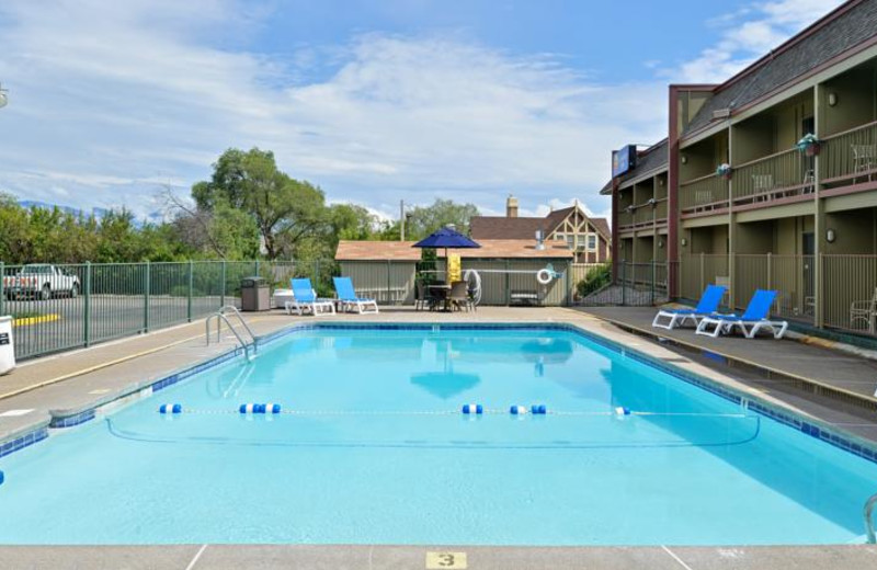 Outdoor pool at Comfort Inn Big Sky.