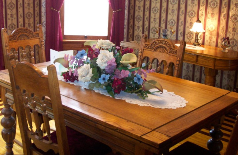 Dining table at Lilac & Lace Guest House.