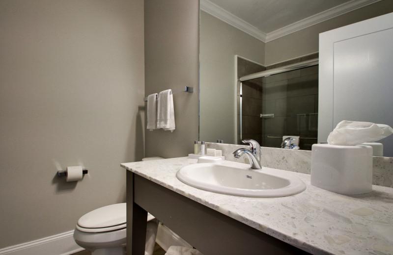 Guest bathroom at Islander Hotel & Resort.