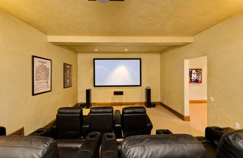 Rental Home Theater at Triumph Mountain Properties