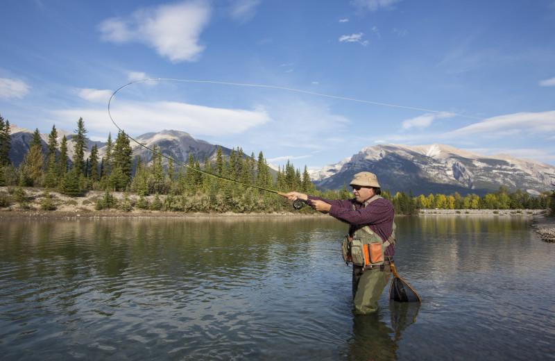 Fishing near Rocky Mountain Ski Lodge.