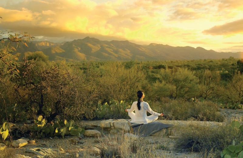 Meditation at Canyon Ranch Tucson.