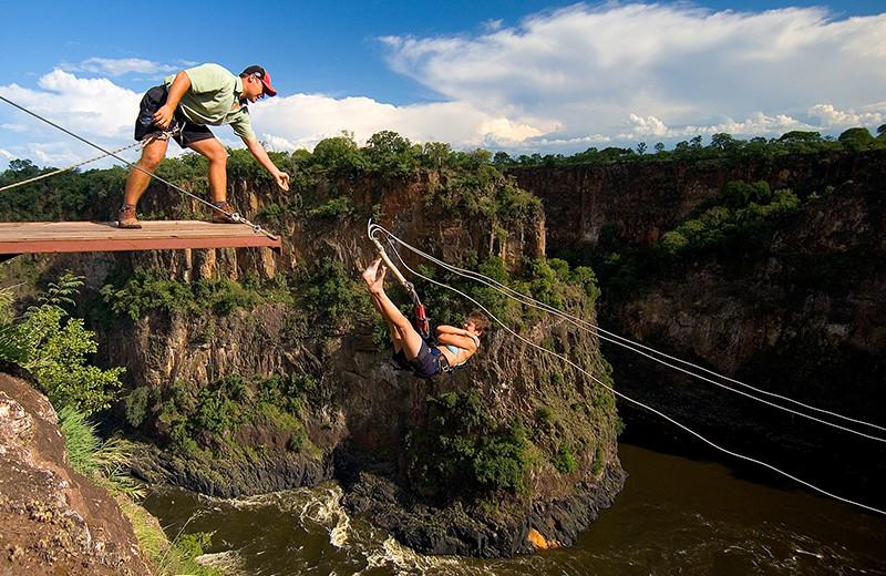 Bungee jumping at Kaazmein Lodge & Resort.