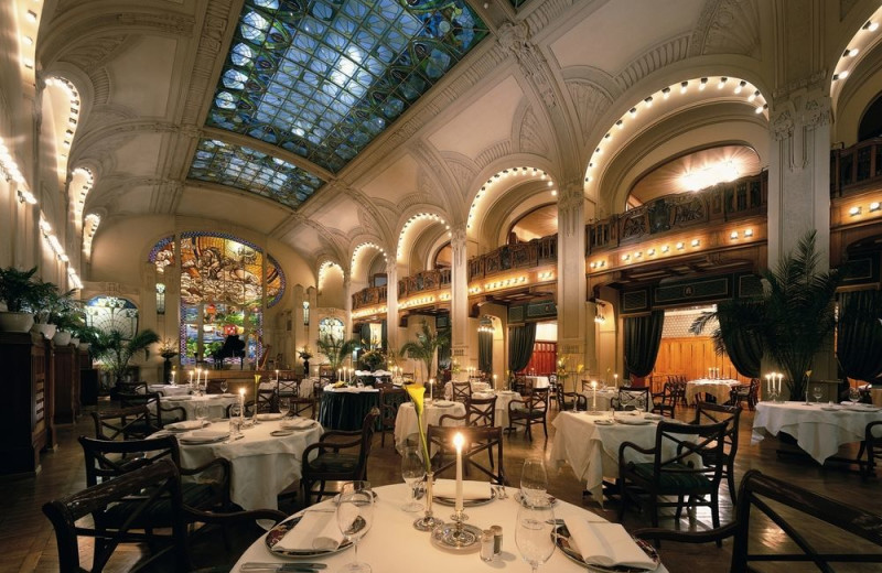 Dining at Grand Hotel Europe.