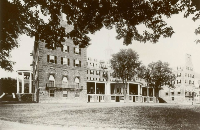 Historical photo of The Otesaga Resort Hotel.
