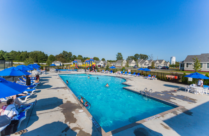 Outdoor pool at Sandbanks Summer Village Cottage Resort.