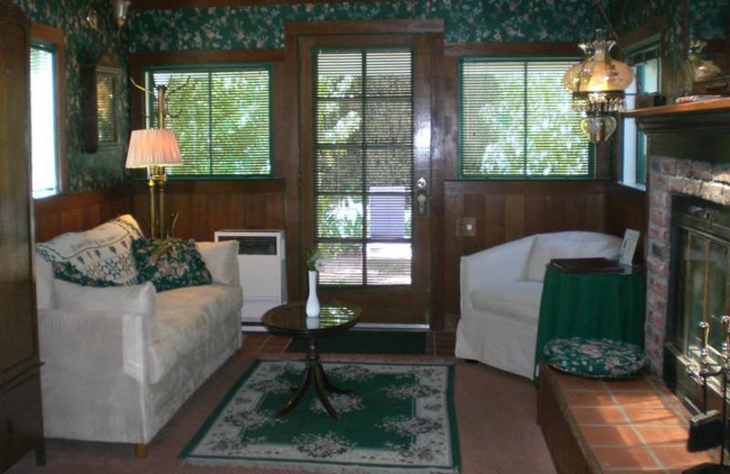 Guest room at A Victorian Garden Inn.
