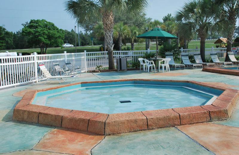 Kiddie pool at Gulf Pines RV Park.