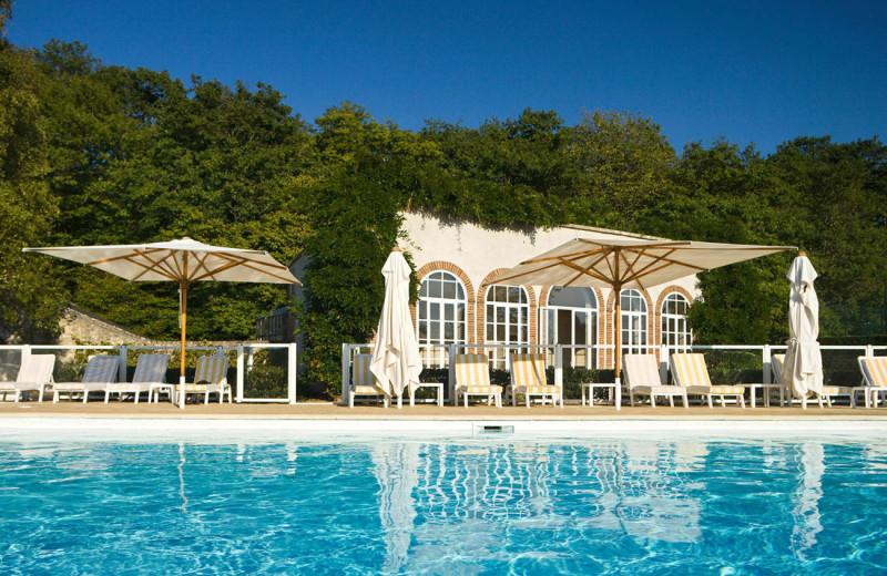 Outdoor pool at Domaine de Hauts de Loire.