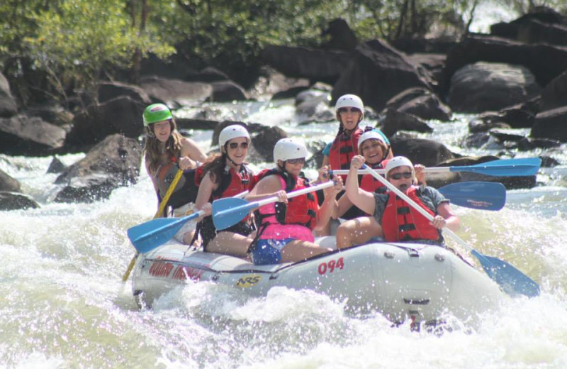 River rafting near Copperhead Lodge.