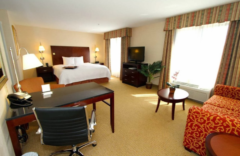 Guest room at Hampton Inn & Suites Tacoma-South.