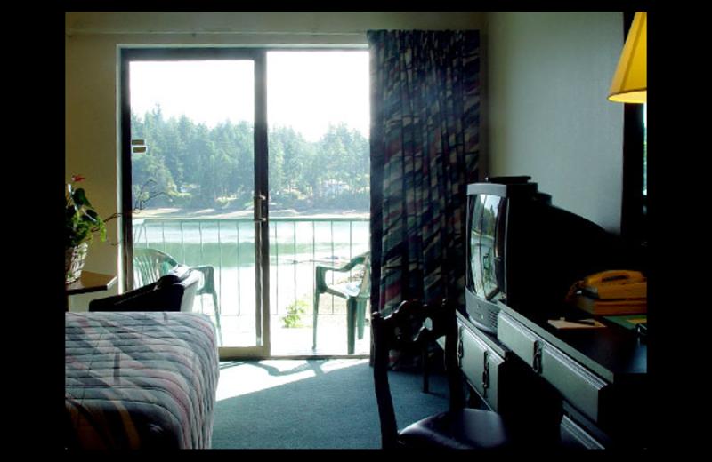 Guest room at Oyster Bay Inn & Restaurant.