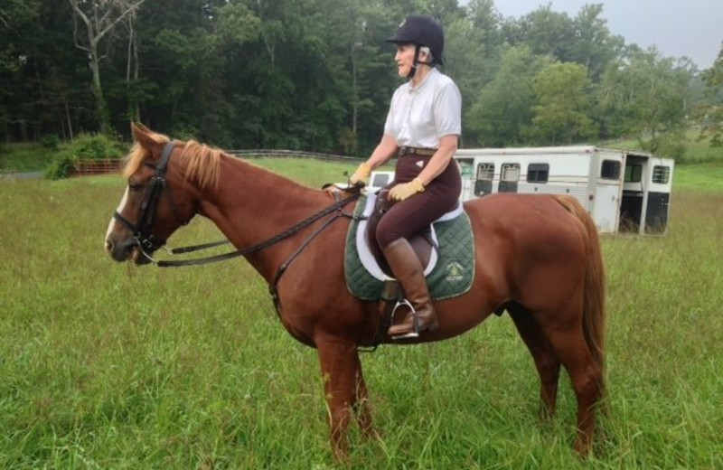 Horseback riding at Conyers House Country Inn & Stable.