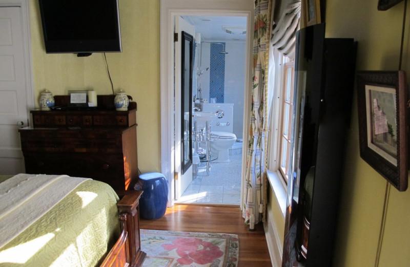 Guest bathroom at Juniper Hill B&B.