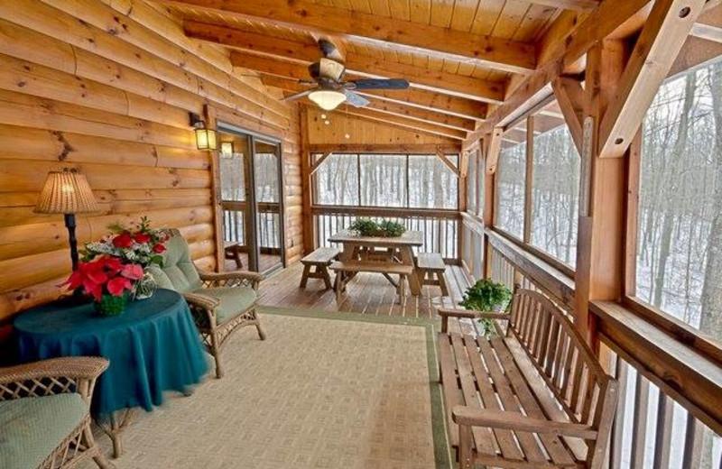 Porch at The Lodge at Lane's End.