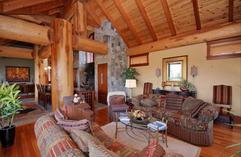 Rental living room at Aloha Whistler.