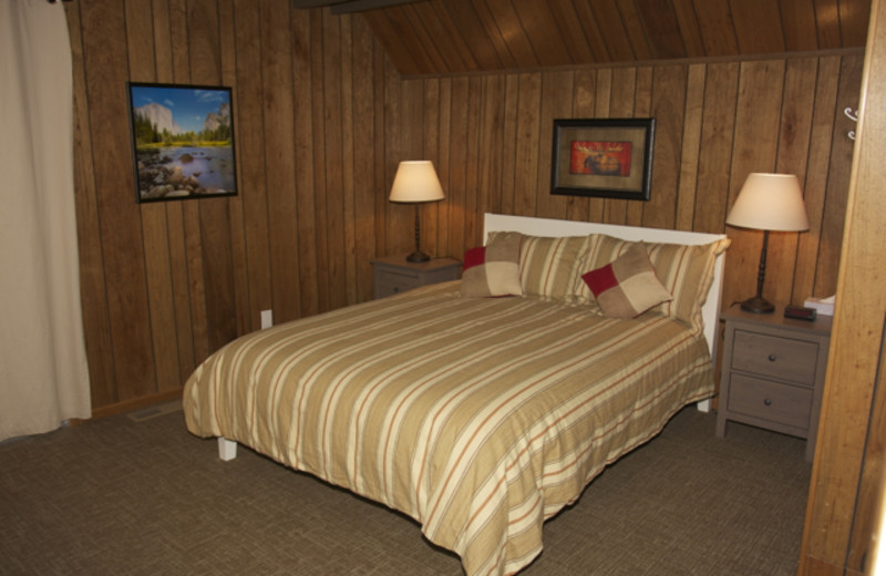 Guest room at Mammoth Mountain Chalets.
