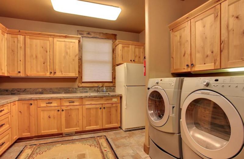 Vacation rental laundry room at Vacasa Rentals Sunriver.