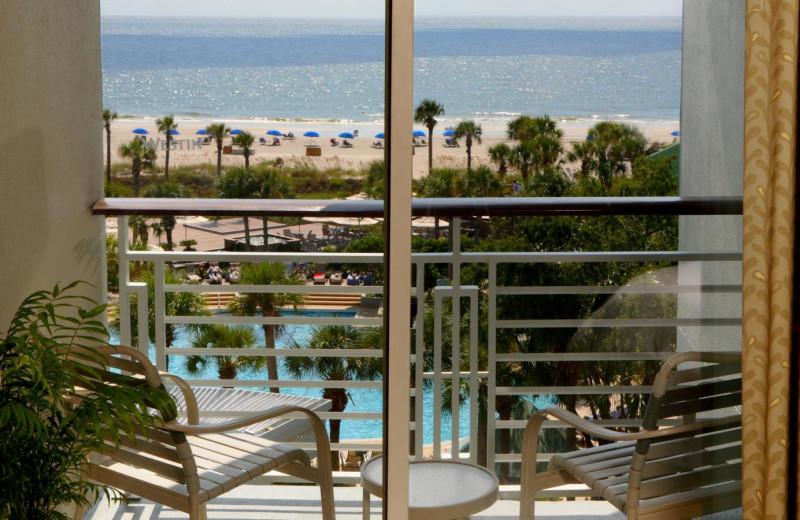 Balcony View at  The Westin Hilton