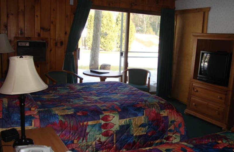 Guest room at Wildwood on the Lake.